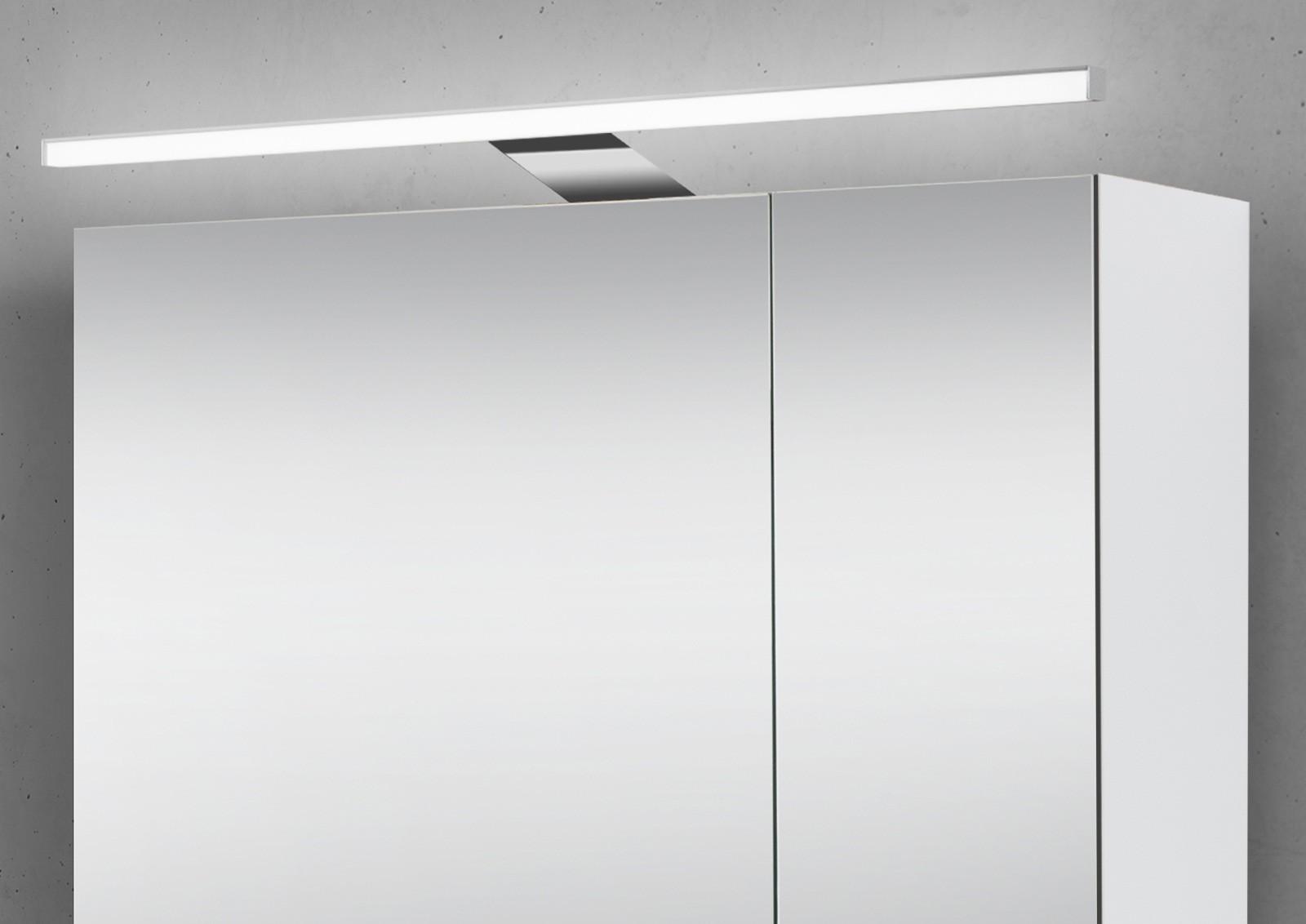 Spiegelschrank 60 cm mit LED Beleuchtung doppeltverspiegelt ...