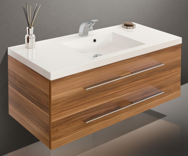 Design Badmöbel Set mit Waschbecken und 120 cm Waschtisch 608 ~ Waschbecken Xeno