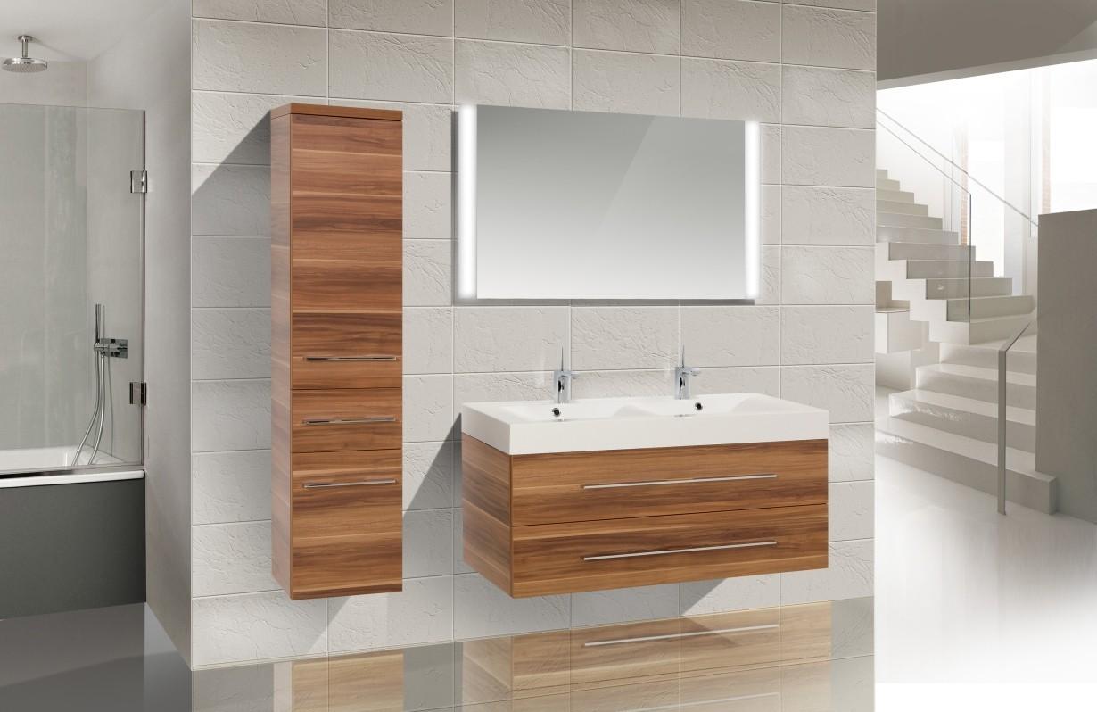 Design Badmöbel Set Doppelwaschtisch 120 Waschbecken ... | {Doppelwaschbecken maße 66}