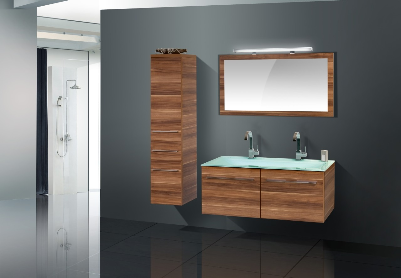 design badmöbel set glas - doppelwaschtisch 120 | designbaeder, Hause ideen