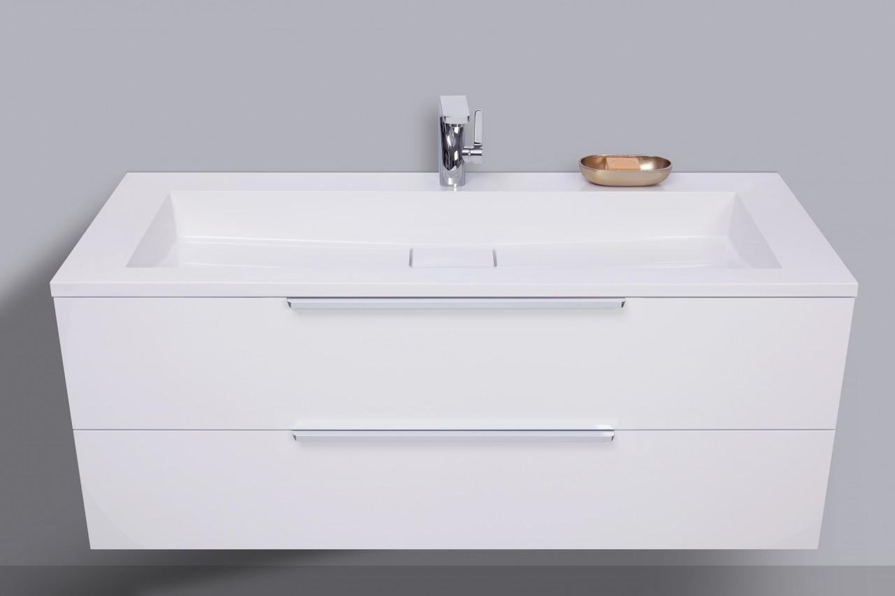 Waschtisch mit Unterschrank Badmöbel Set 120 cm, Evermite ...