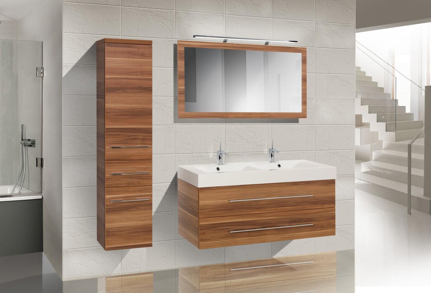 badm bel set mit doppelwaschtisch 120 cm 634. Black Bedroom Furniture Sets. Home Design Ideas
