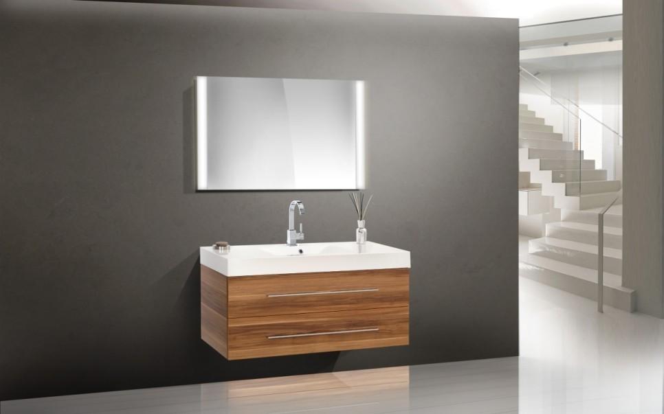 design badm bel set waschbecken 120 cm lichtspiegel. Black Bedroom Furniture Sets. Home Design Ideas