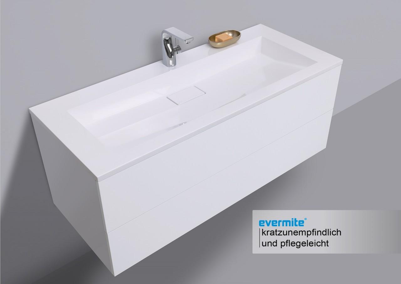 badm bel set grifflos 120 cm waschtisch evermite mit. Black Bedroom Furniture Sets. Home Design Ideas