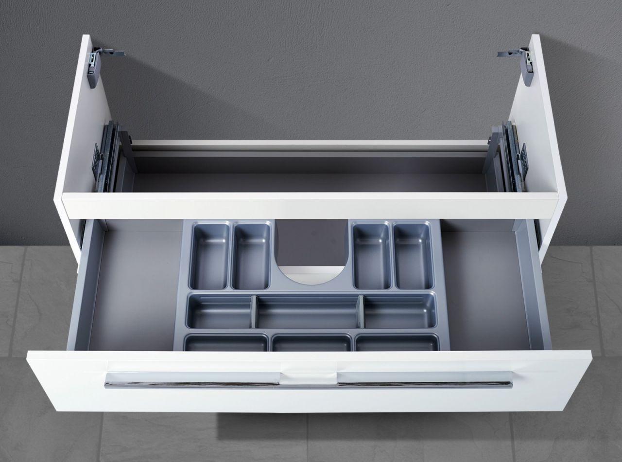 Unterschiedlich Waschtisch Unterschrank zu Duravit Vero 85 cm, mit Kosmetikeinsatz  PS56
