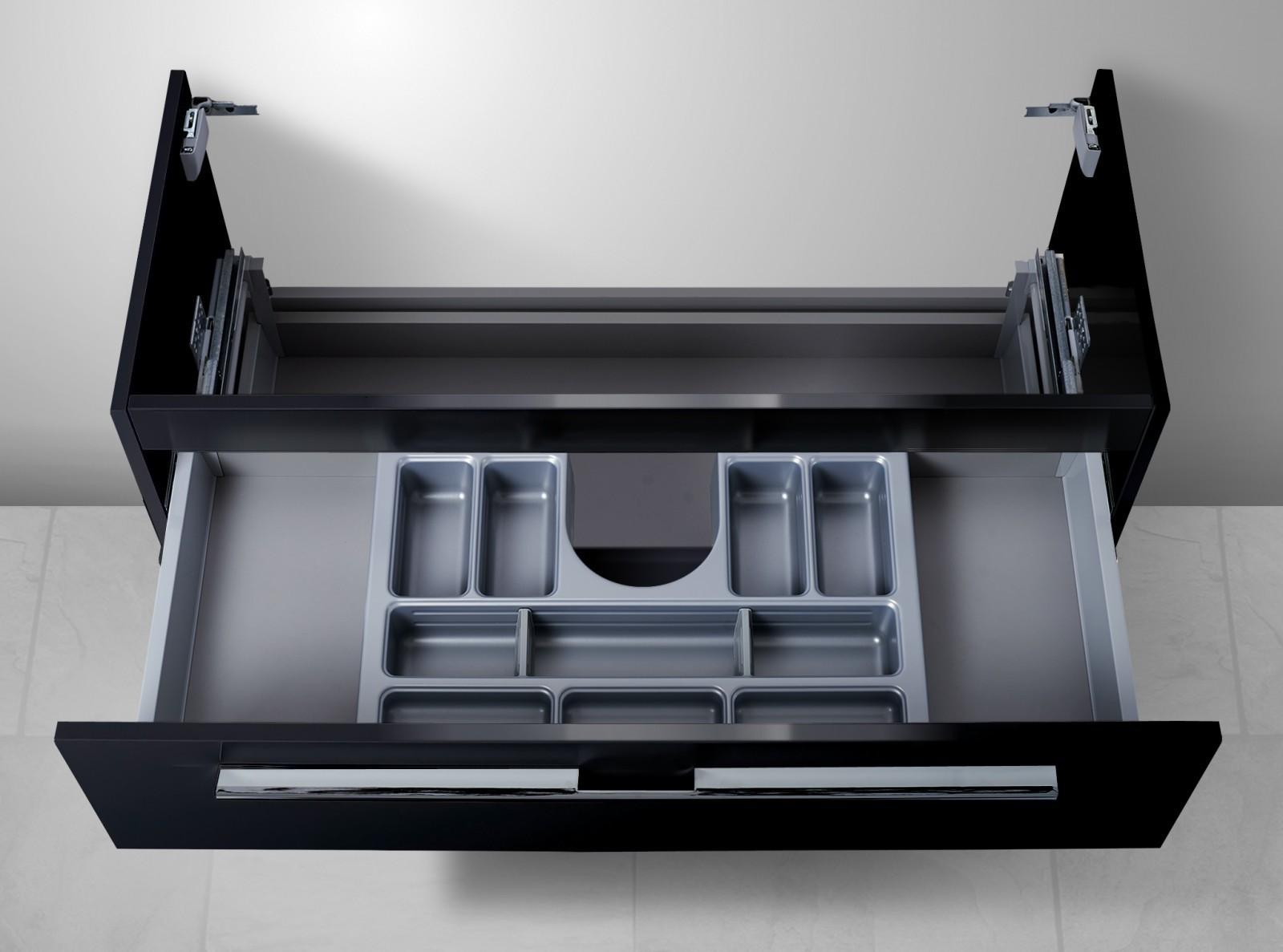 unterschrank f r keramag icon 120 cm doppelwaschtisch 1 ablauf mit kosmetikeinsatz. Black Bedroom Furniture Sets. Home Design Ideas