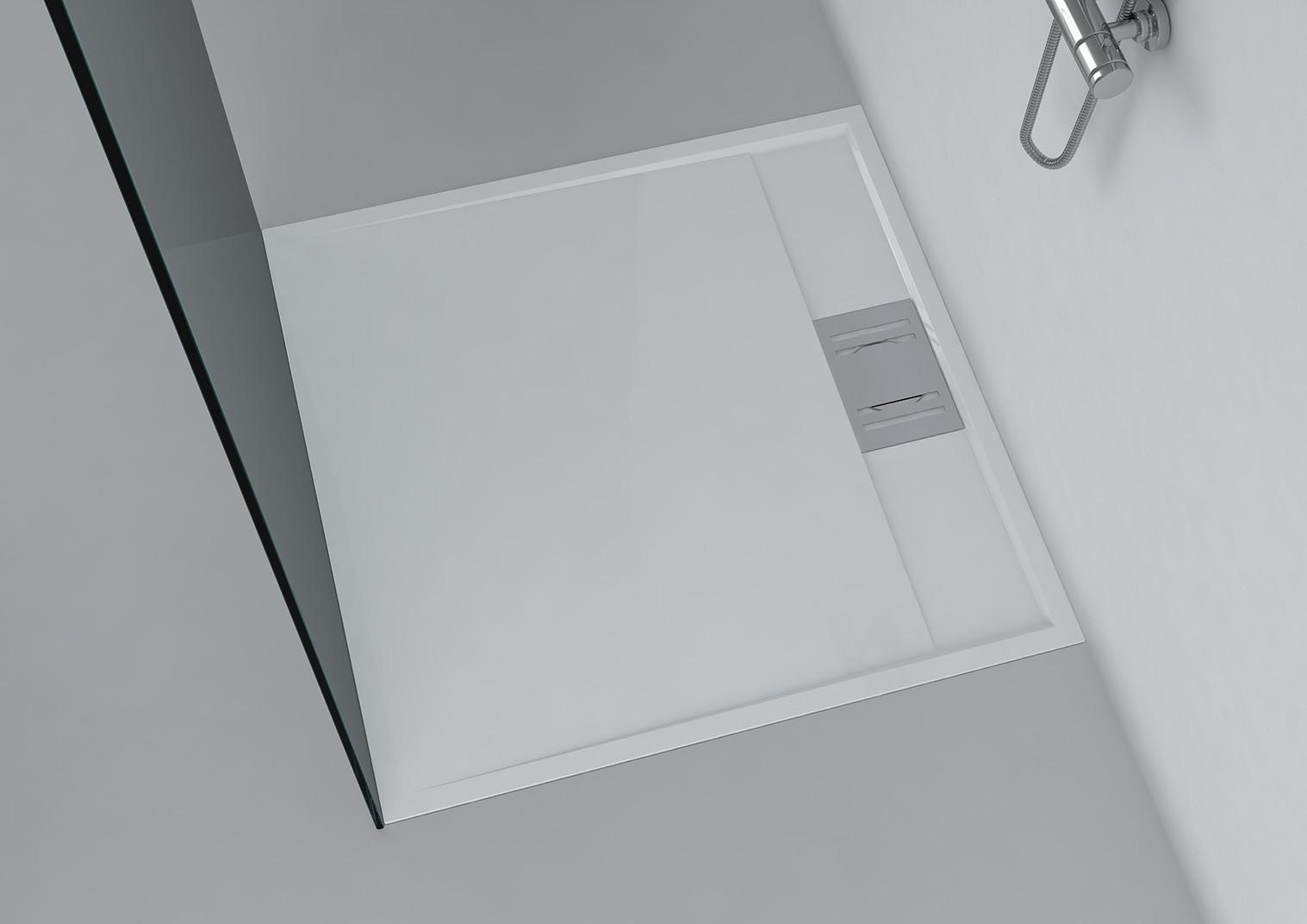 duschwanne 90x90 cm novara mineralguss viereck flach. Black Bedroom Furniture Sets. Home Design Ideas