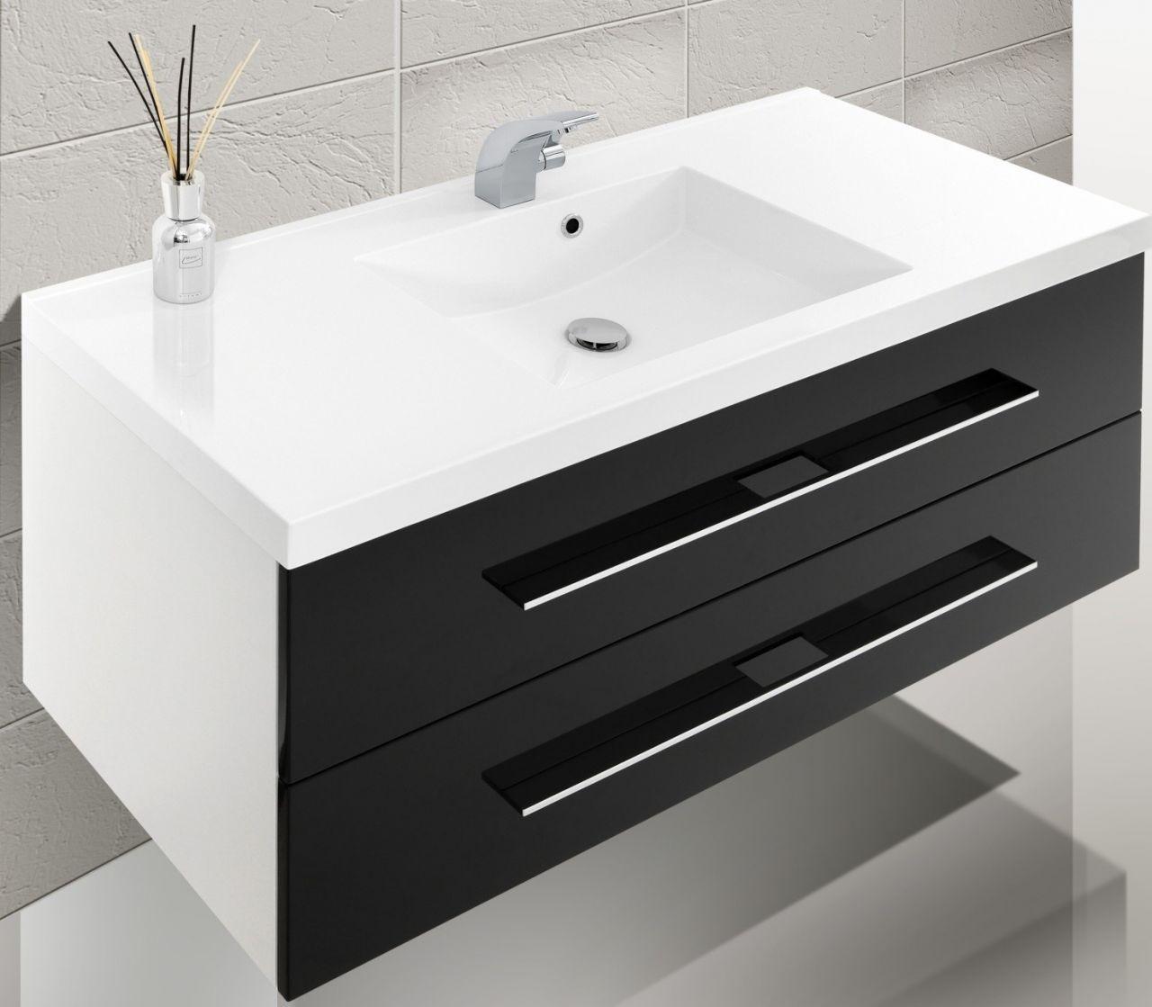 design badm bel set hochglanz lack waschtisch 120 cm. Black Bedroom Furniture Sets. Home Design Ideas
