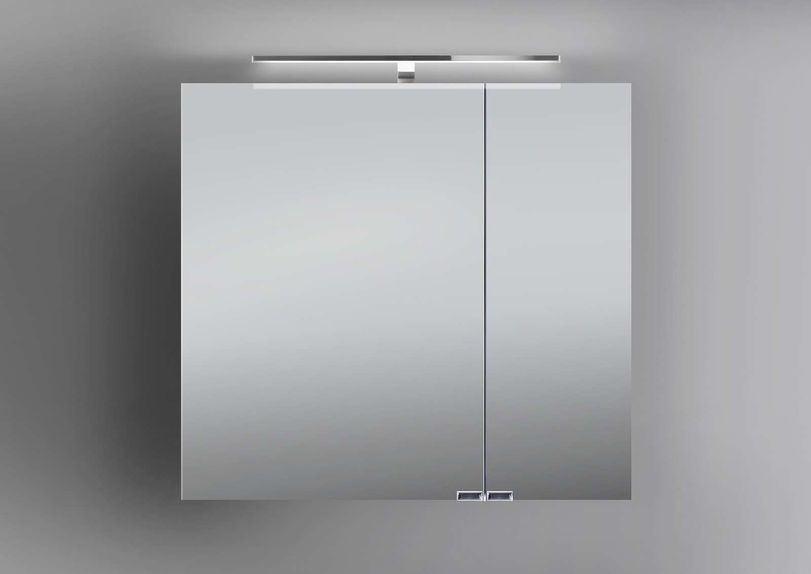 Komplett Neu Spiegelschrank Bad 70 cm LED Beleuchtung doppelt verspiegelt  WP36