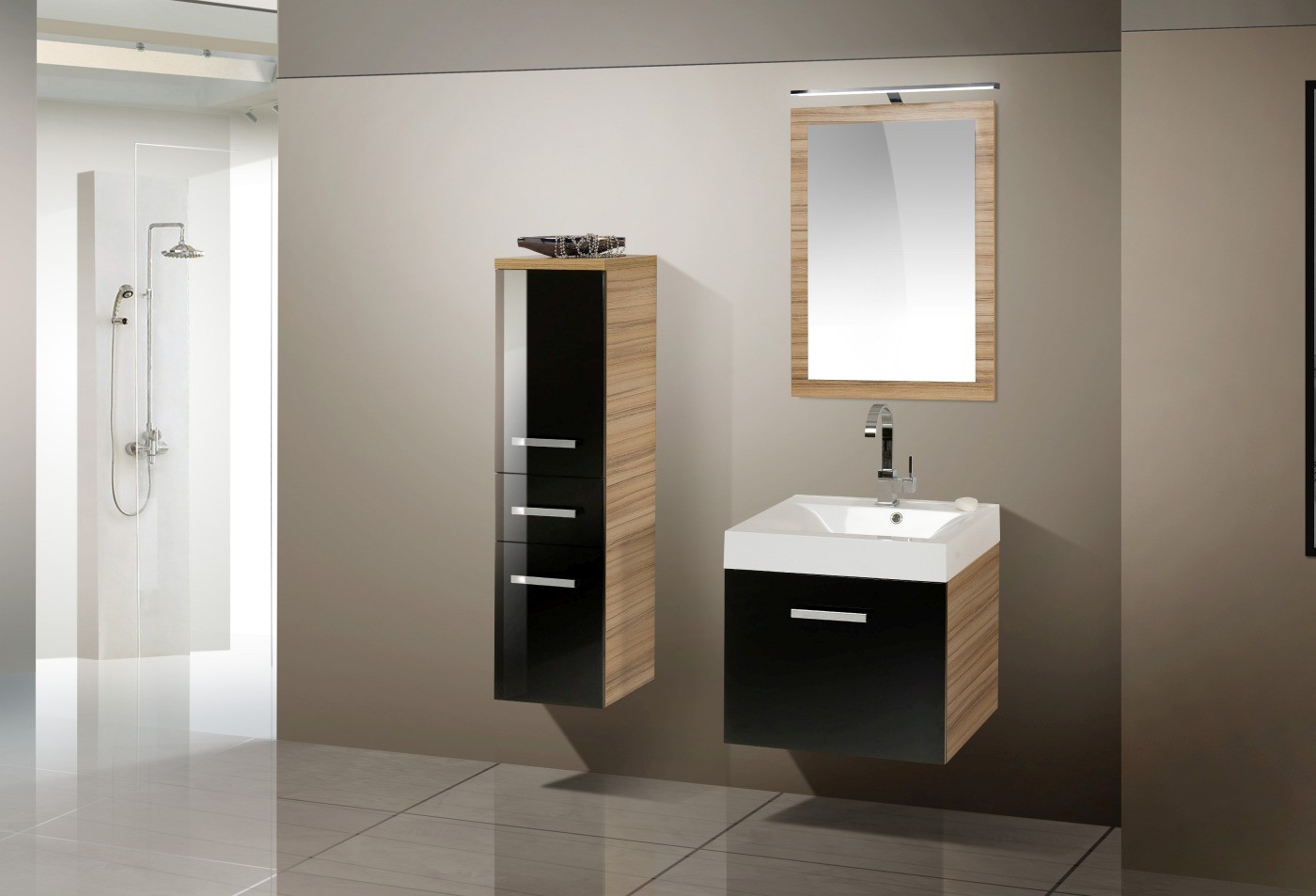 design badm bel set waschtisch 60 cm. Black Bedroom Furniture Sets. Home Design Ideas