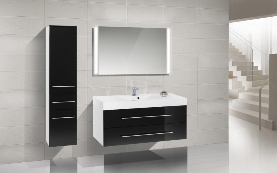 design badm bel set waschbecken 120cm waschtisch. Black Bedroom Furniture Sets. Home Design Ideas