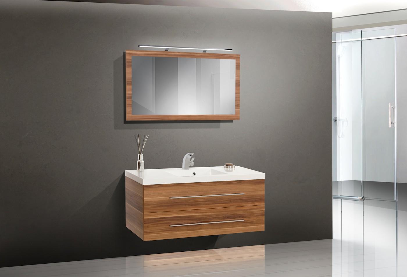 Design badm bel set 120 cm waschbecken lichtspiegel - Designer badmobel ...