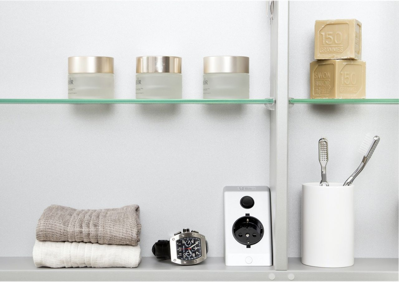 spiegelschrank bad 100 cm led beleuchtung doppelseitig verspiegelt wei hochgl ebay. Black Bedroom Furniture Sets. Home Design Ideas