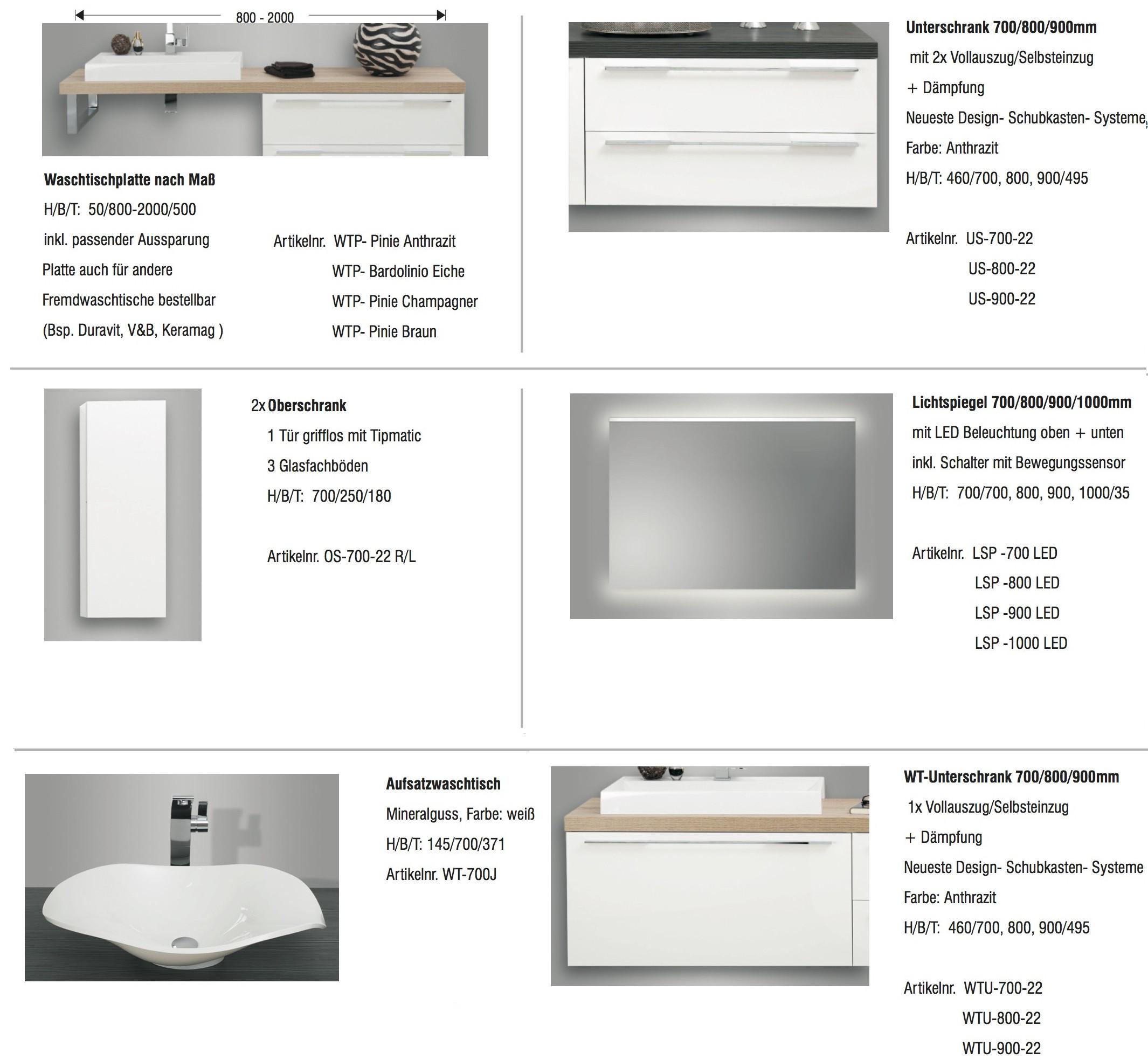 Design Badezimmermöbel mit modernem Aufsatzwaschtisch ...