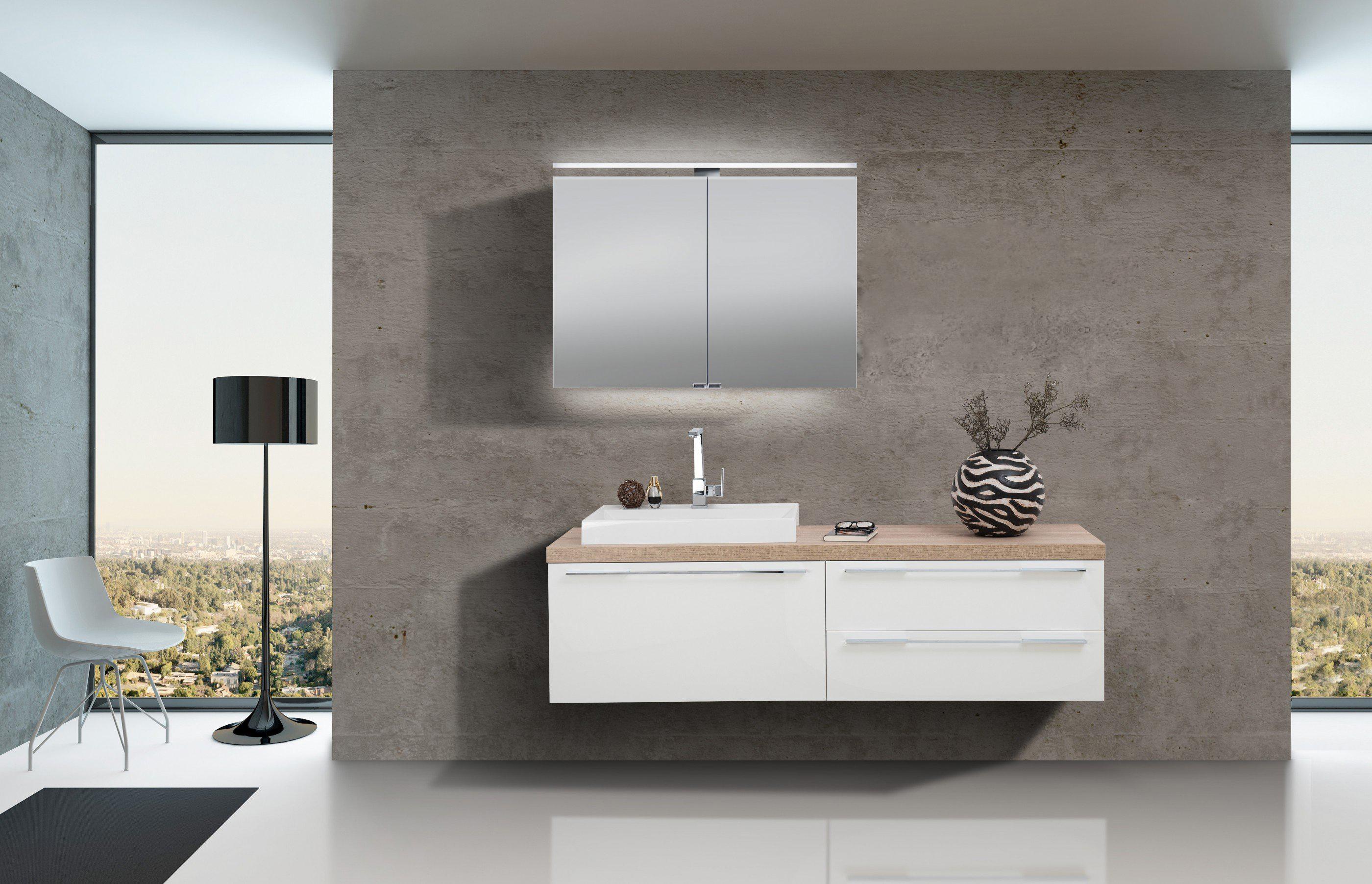 Badezimmer Set Mit Spiegelschrank Und Waschbecken Luxor