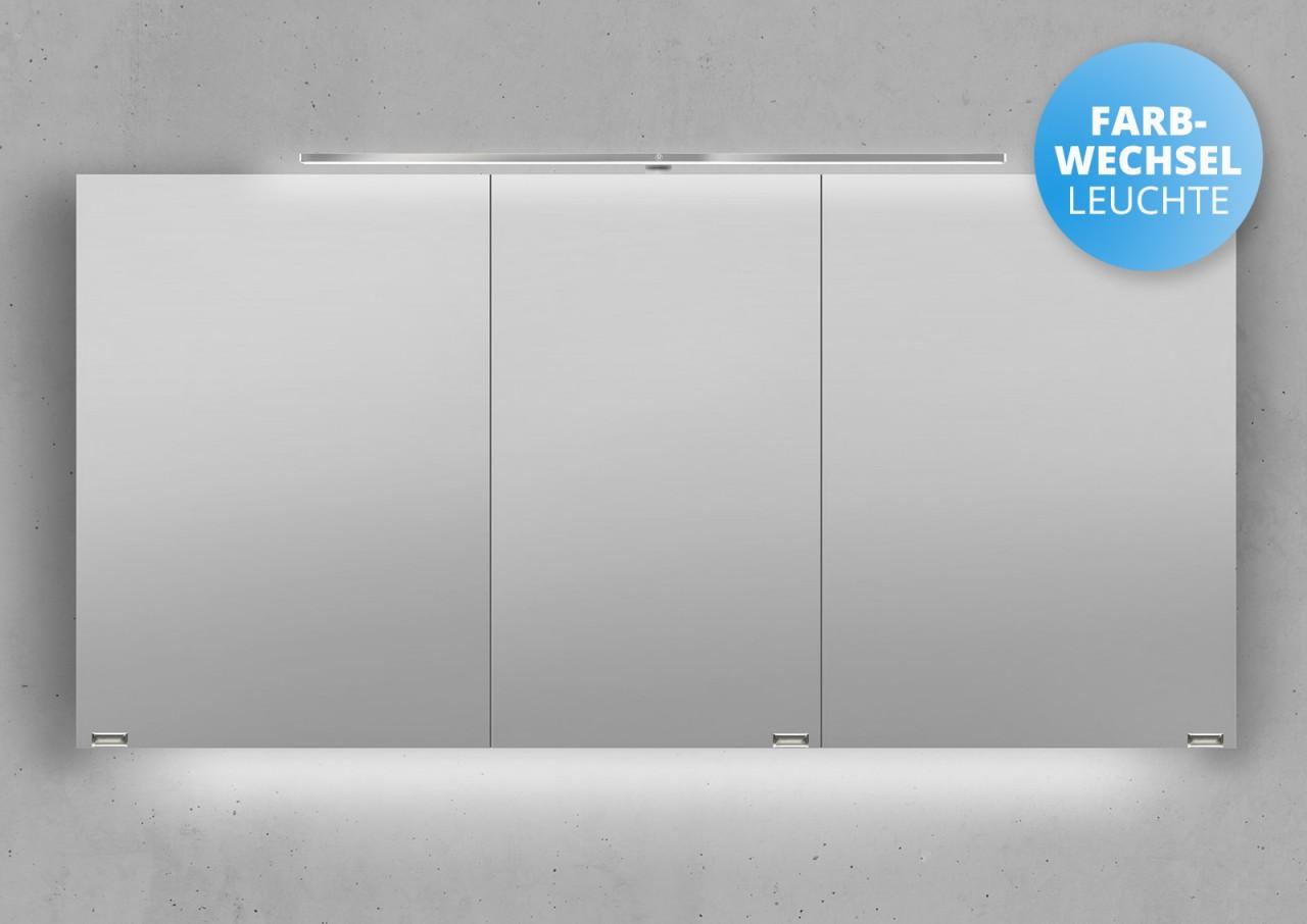 spiegelschrank 140 cm led beleuchtung mit farbwechsel. Black Bedroom Furniture Sets. Home Design Ideas