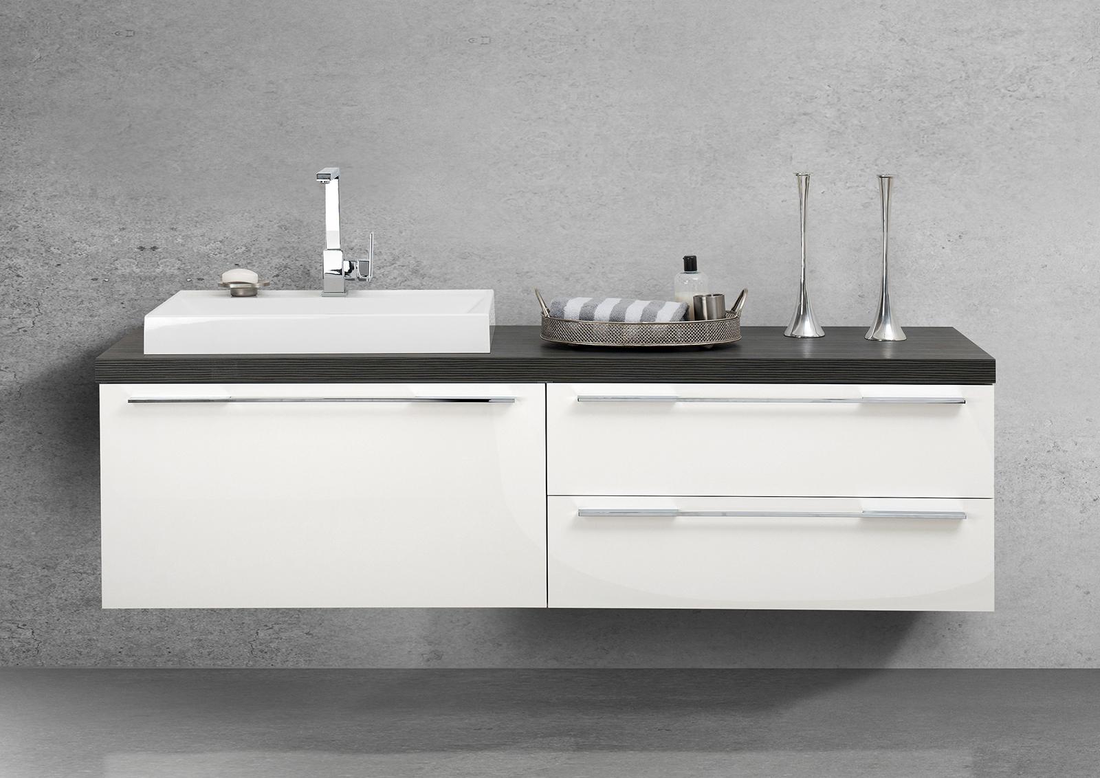 Waschtischplatte badm bel set luxor design for Design waschtischunterschrank