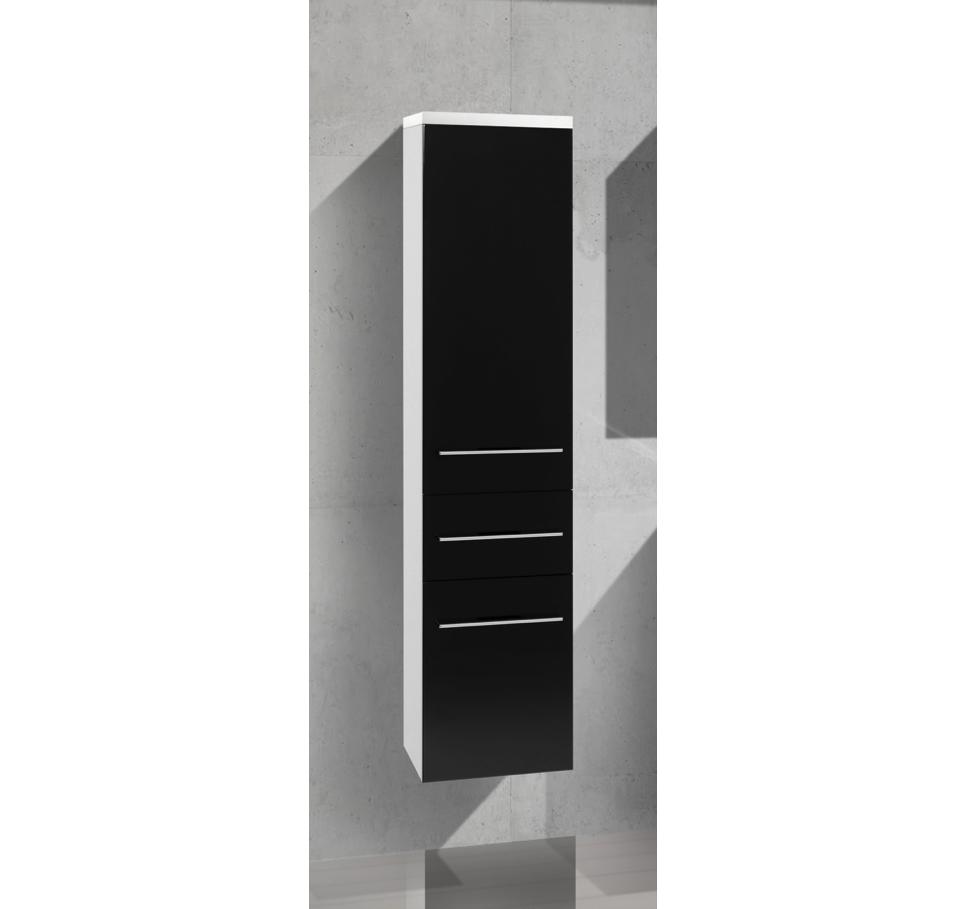 Bad Hochschrank, Seitenschrank H/B/T: 156/35/33cm, weiß hochglanz ...