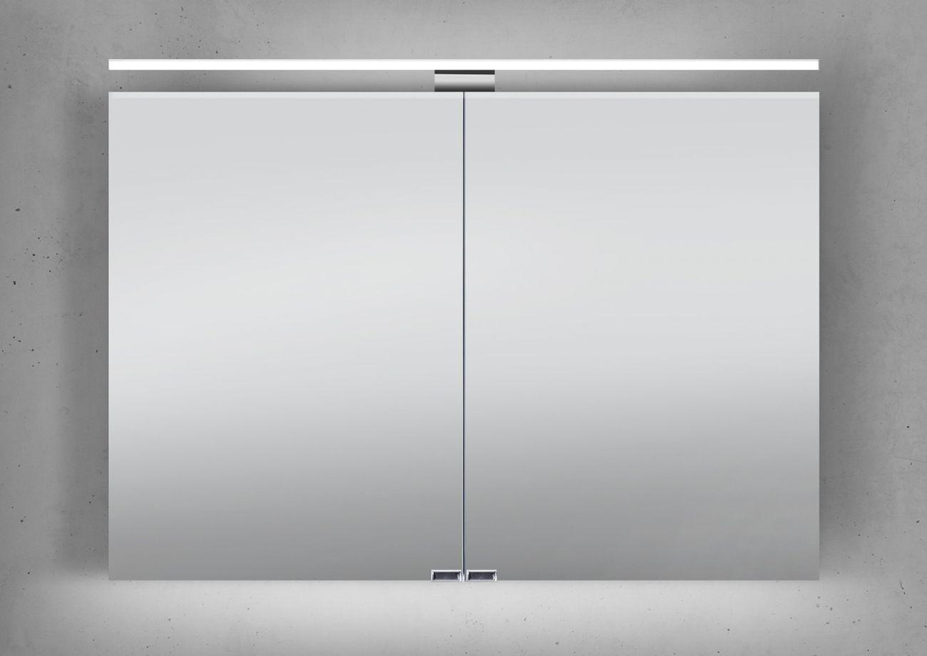 Spiegelschrank 100 Cm LED Beleuchtung Doppelseitig Verspiegelt |  Designbaeder.com