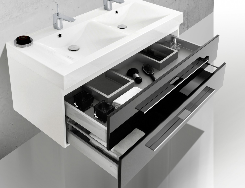 Design badm bel set doppelwaschtisch 120 cm for Doppelwaschtisch set