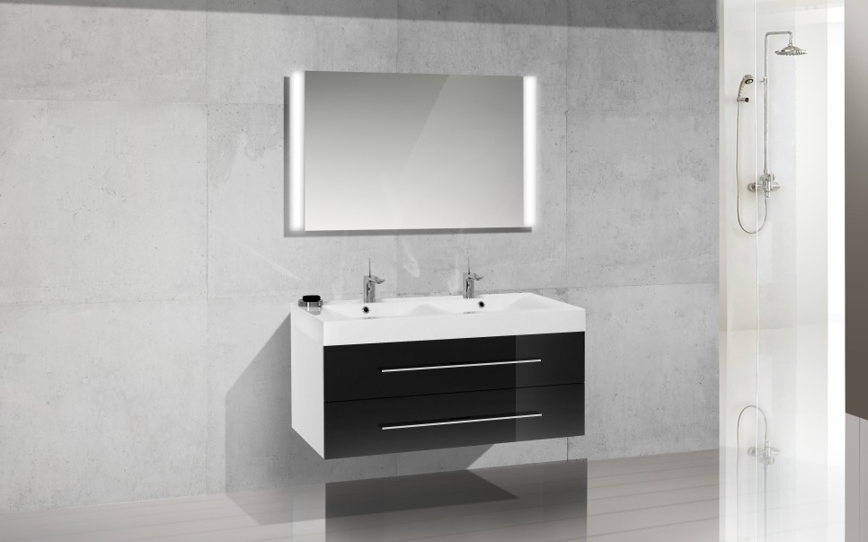 badm bel set mit doppelwaschtisch 120 cm 613. Black Bedroom Furniture Sets. Home Design Ideas