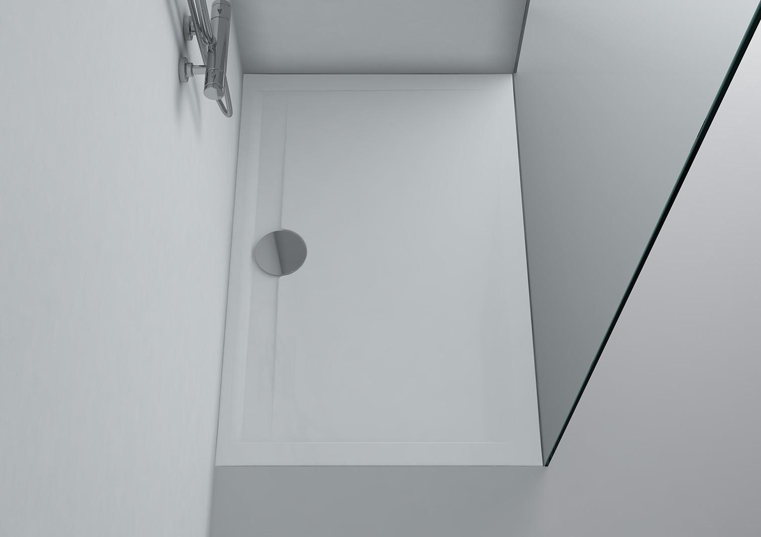 duschwanne 120 x 80 x 3 cm messina mineralguss duschtasse flach bodengleich inkl ablaufgarnitur. Black Bedroom Furniture Sets. Home Design Ideas