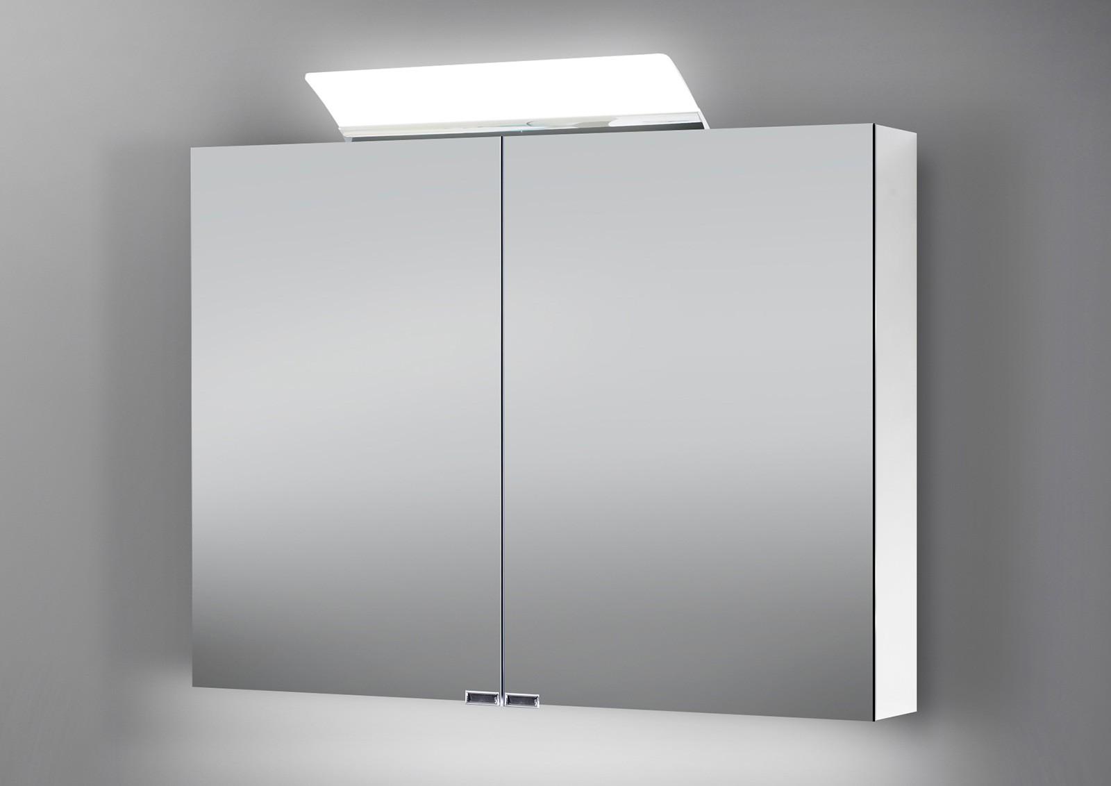 Spiegelschrank bad 100 cm led beleuchtung doppelseitig verspiegelt - Spiegelschrank bad 100 cm ...