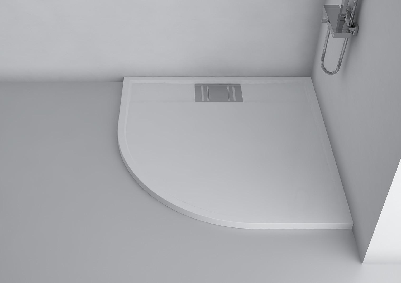 duschwanne 90x90 cm novara mineralguss viertelkreis flach. Black Bedroom Furniture Sets. Home Design Ideas