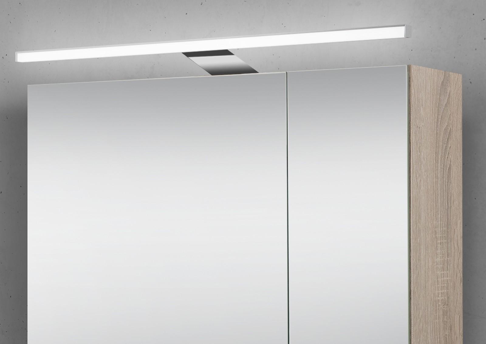 spiegelschrank 70 cm led beleuchtung doppelt verspiegelt. Black Bedroom Furniture Sets. Home Design Ideas