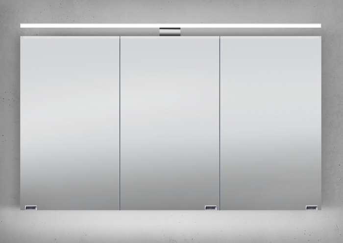 spiegelschrank 1206328 cm chromfarbenwei modern glas ...