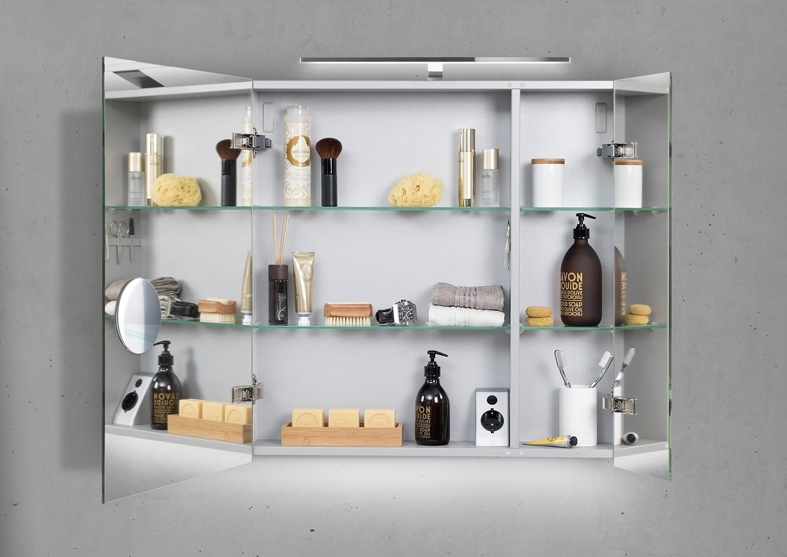 spiegelschrank bad 60 cm led beleuchtung doppelt verspiegelt. Black Bedroom Furniture Sets. Home Design Ideas