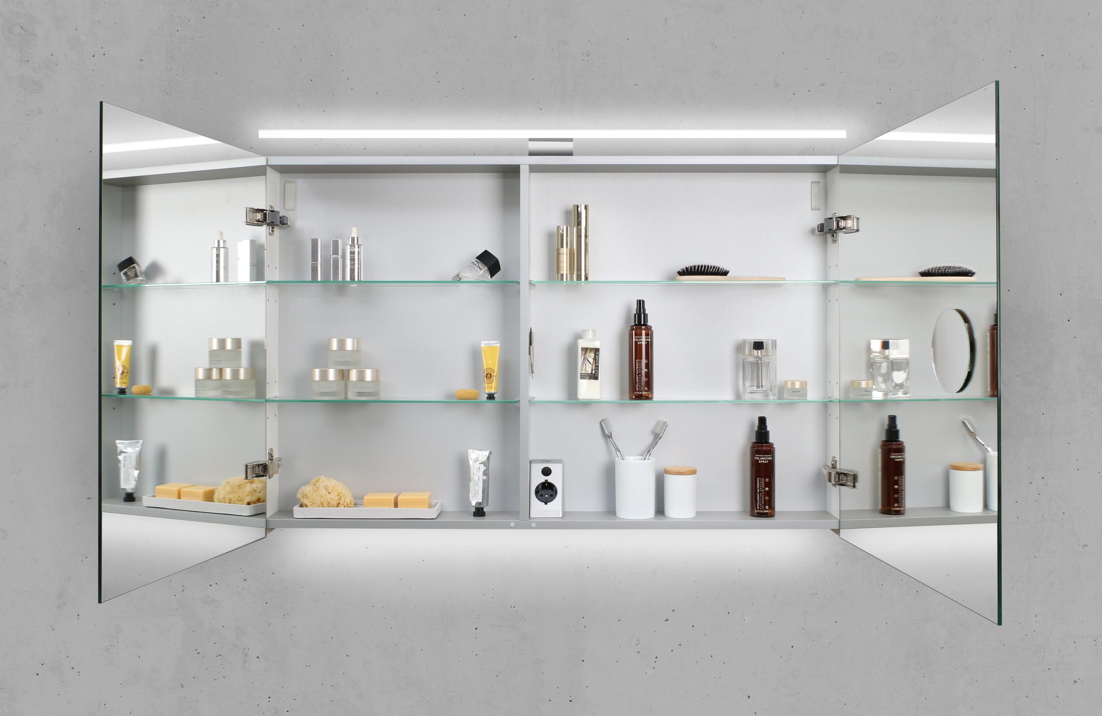 Spiegelschrank 110 cm led beleuchtung doppelseitig verspiegelt - Spiegelschrank 110 cm ...