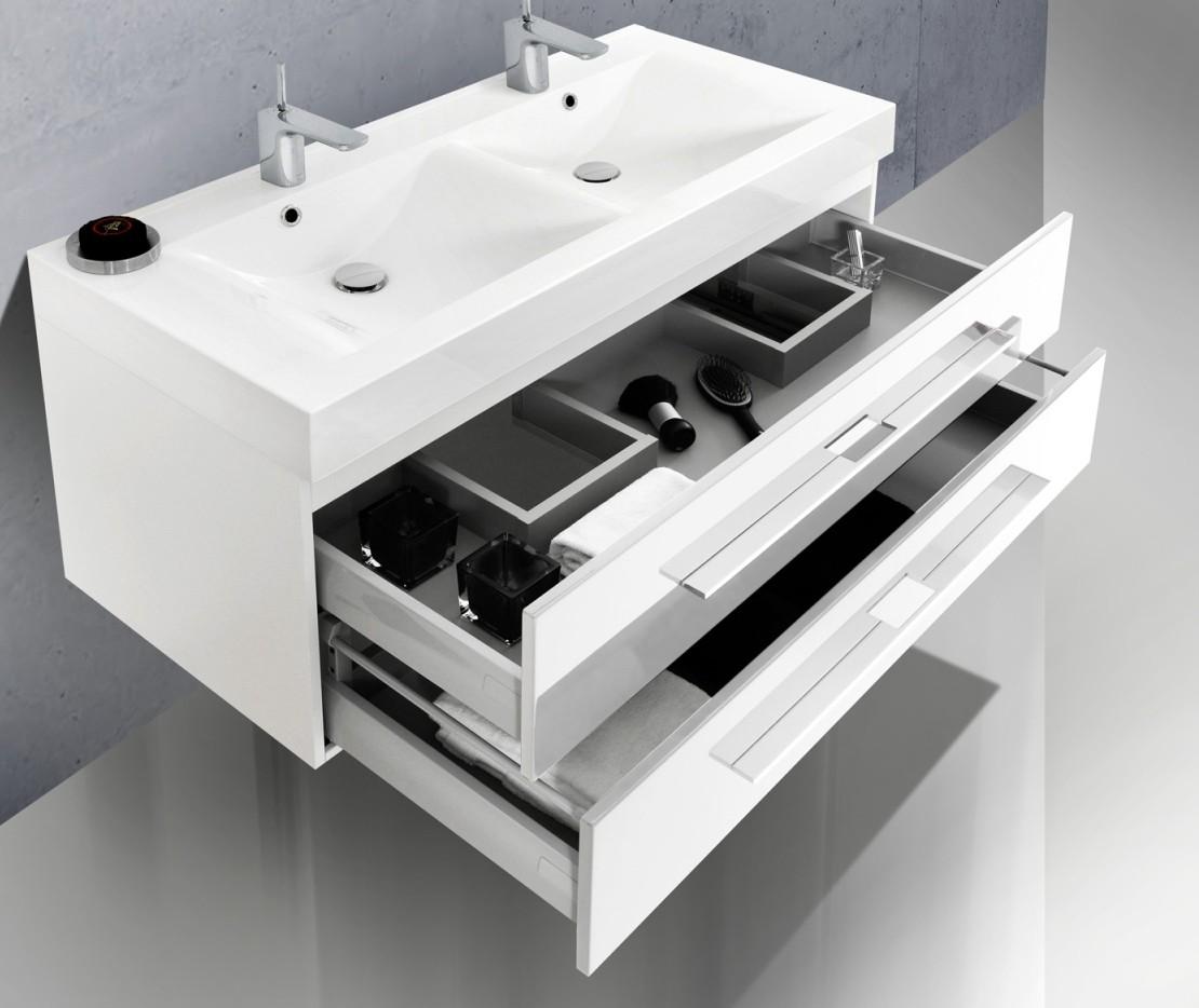 Design badm bel set mit doppelwaschtisch 120 cm for Badmobel set doppelwaschtisch