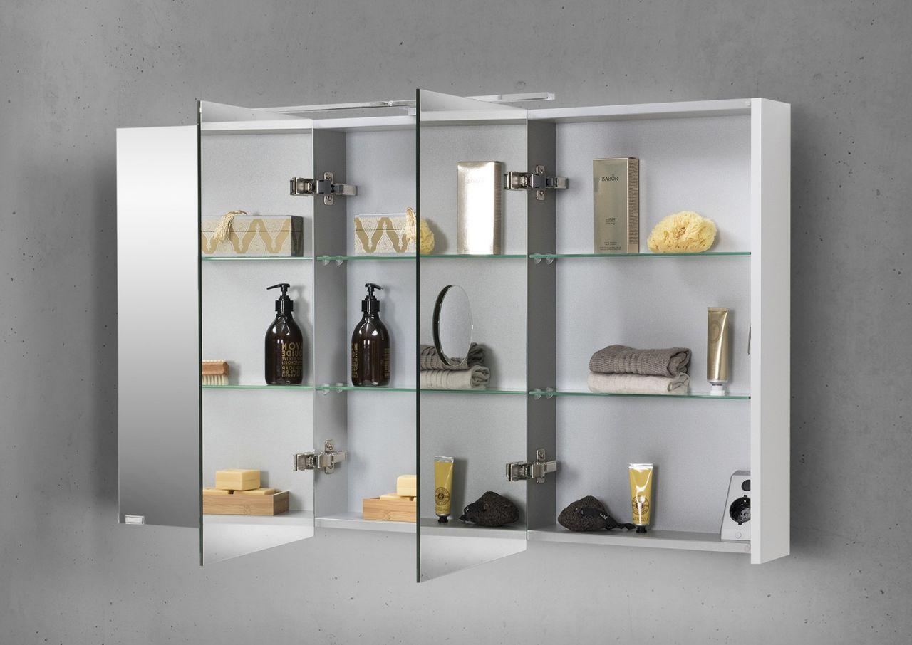 spiegelschrank 120 cm led beleuchtung mit farbwechsel doppelseitig verspiegelt 4251589910846. Black Bedroom Furniture Sets. Home Design Ideas
