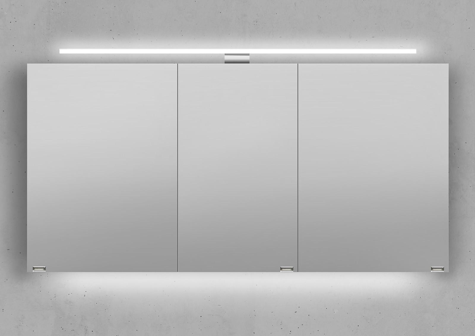 spiegelschrank 140 cm led beleuchtung doppelseitig verspiegelt. Black Bedroom Furniture Sets. Home Design Ideas