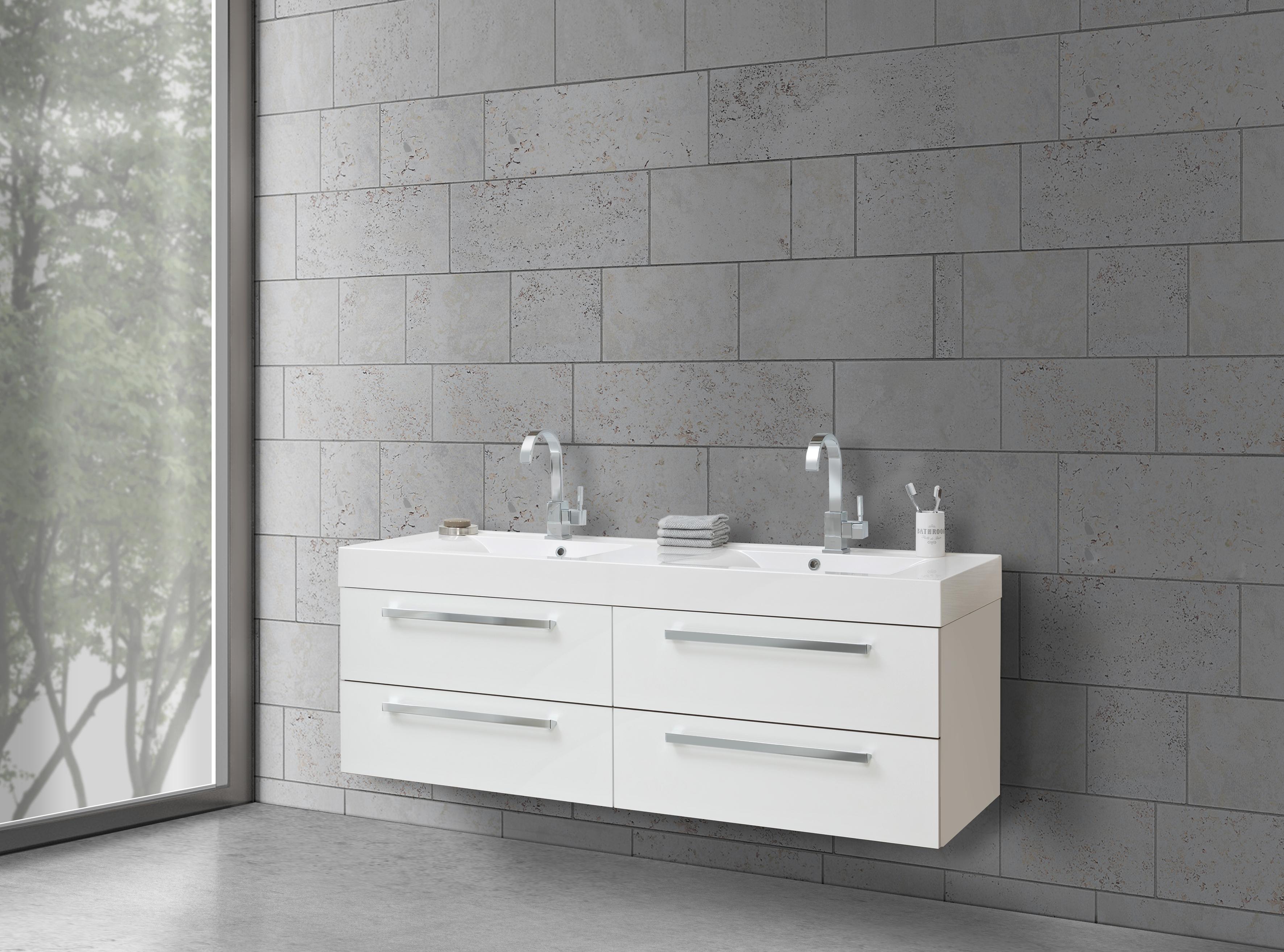 badm bel doppelwaschtisch 160 cm evermite mit unterschrank intarbad salerno 2 0. Black Bedroom Furniture Sets. Home Design Ideas