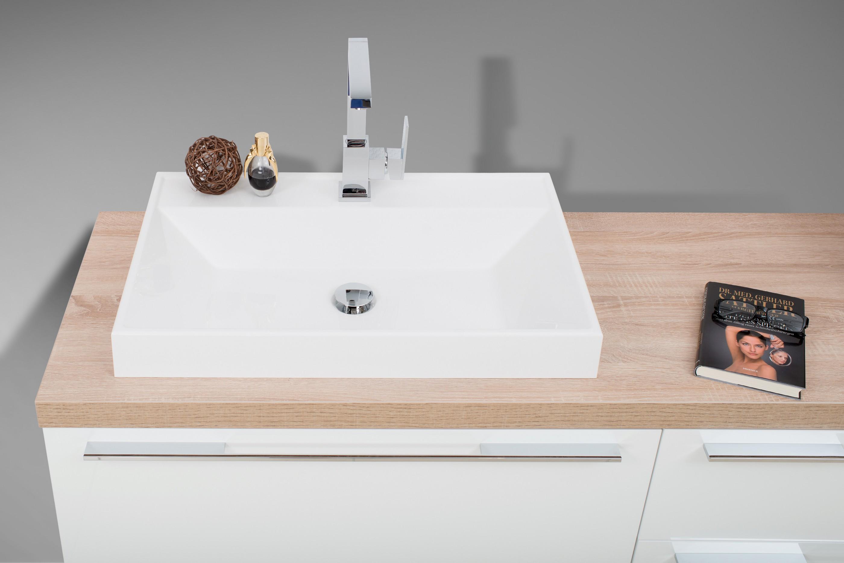 waschtischplatte mit aufsatzwaschtisch und unterschrank set design badezimmereinrichtung. Black Bedroom Furniture Sets. Home Design Ideas