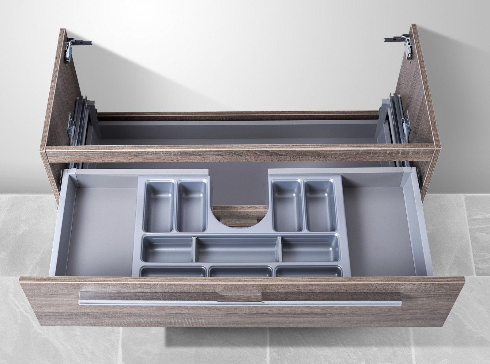 waschtisch unterschrank zu villeroy boch subway 2 0 130 cm mit kosmetikeinsatz. Black Bedroom Furniture Sets. Home Design Ideas