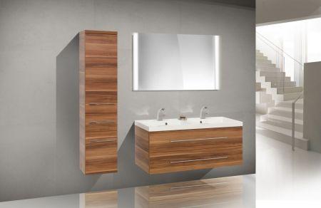 Design Badmöbel Set Waschbecken Doppelwaschtisch 120 cm