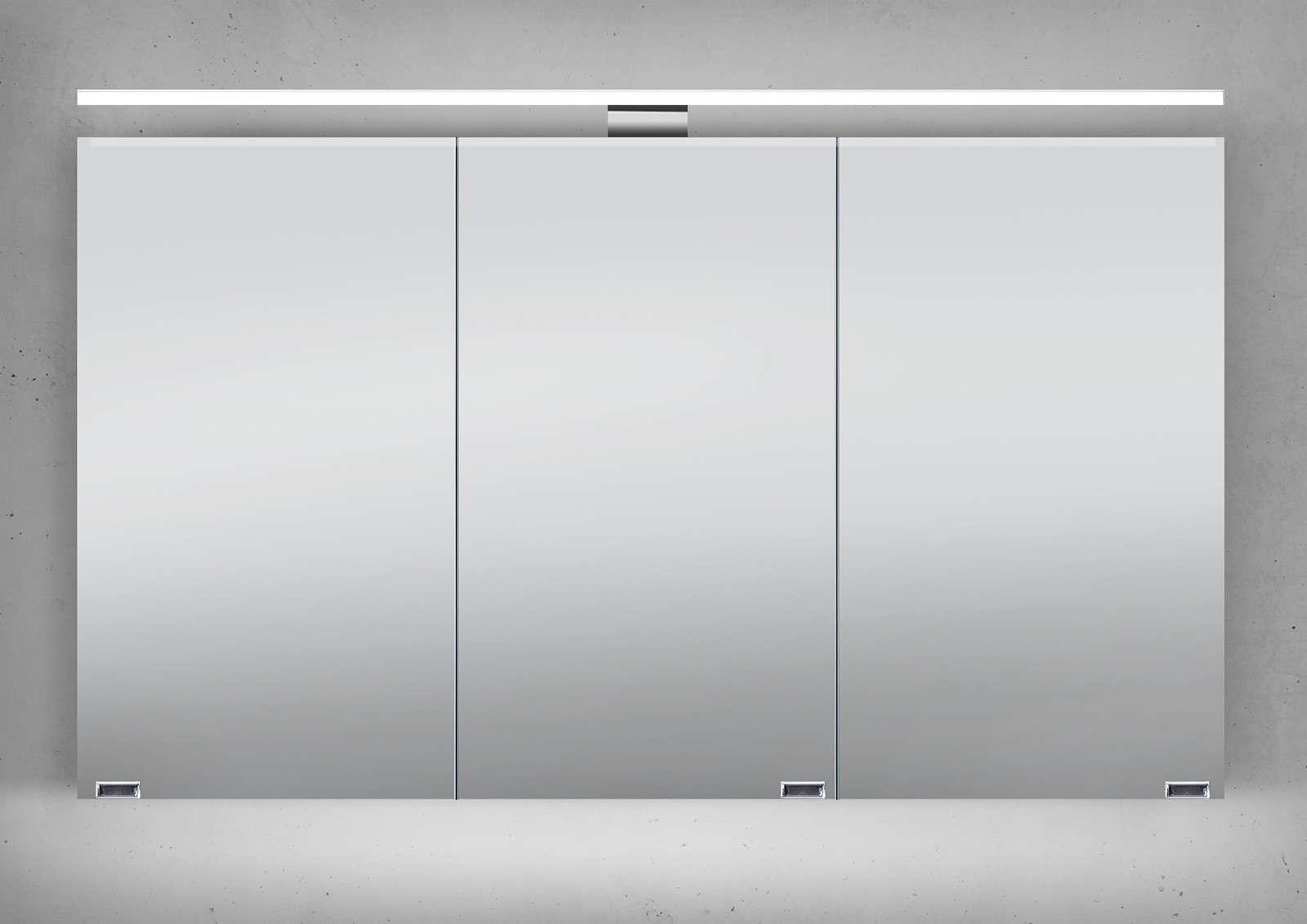 Sehr Gut Spiegelschrank 120 Cm LED Beleuchtung Doppelseitig Verspiegelt II83