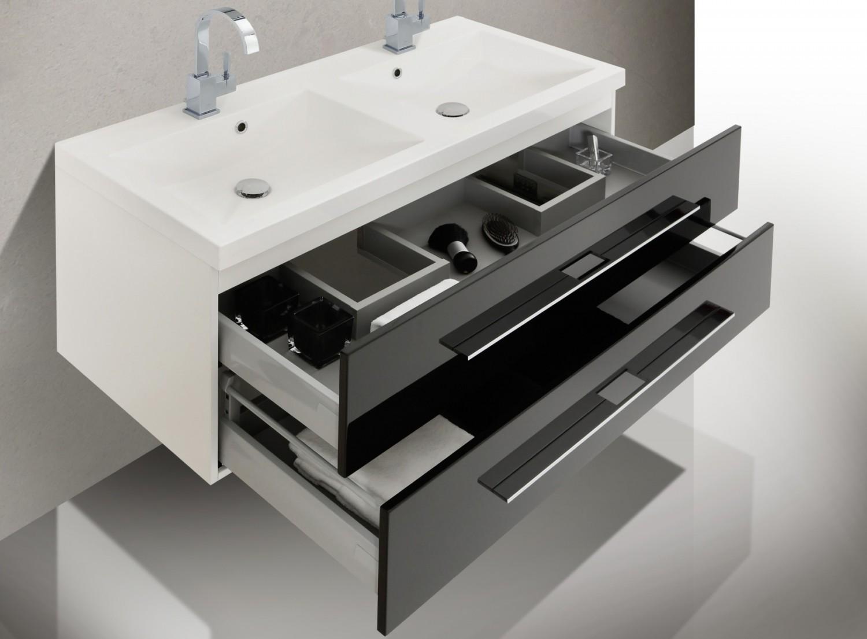 Design badm bel set doppelwaschtisch 120 spiegelschrank for Badmobel set doppelwaschtisch
