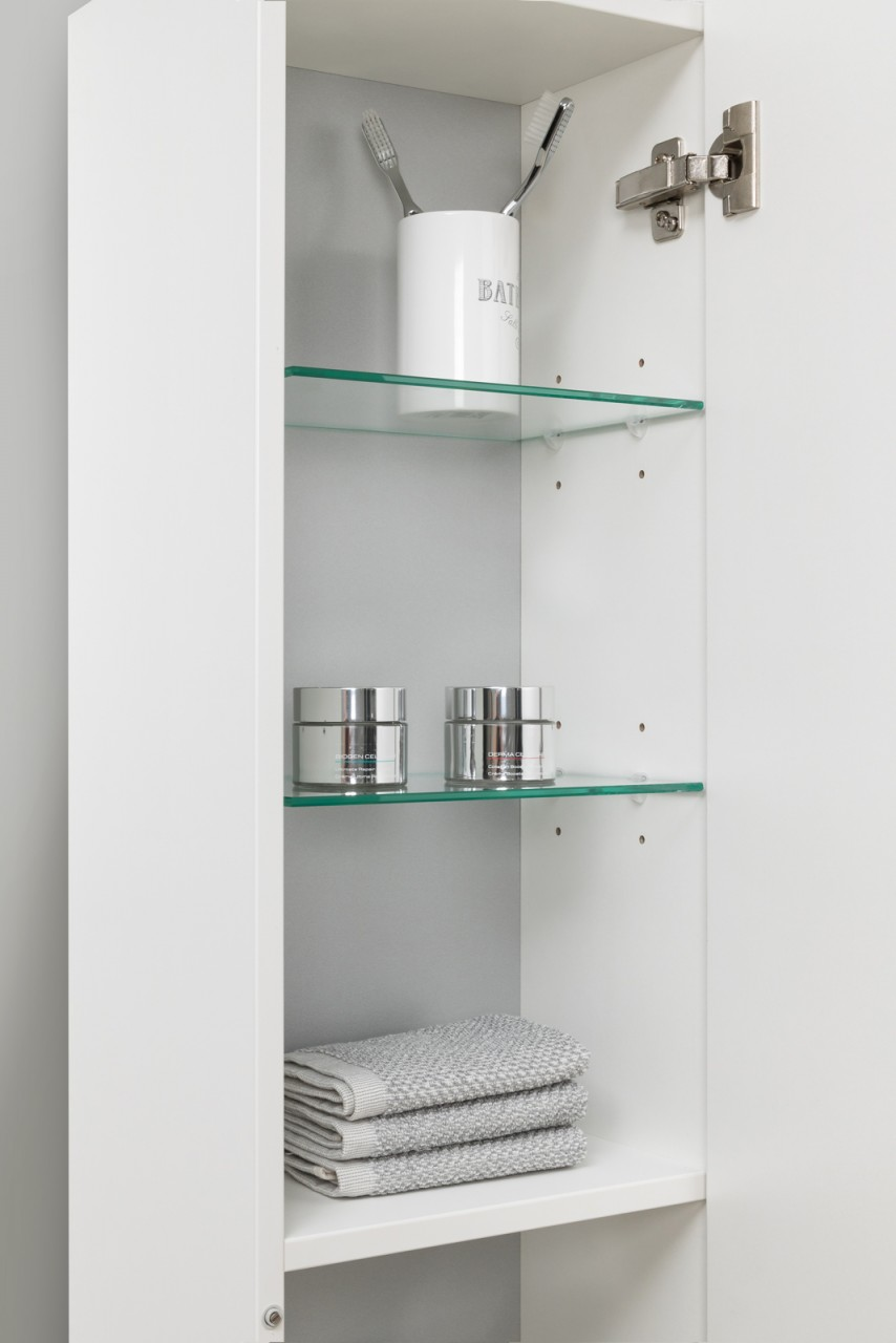 Design Badmöbel Set Waschtisch 120 cm Schwarz Hochglanz Griffleiste ...