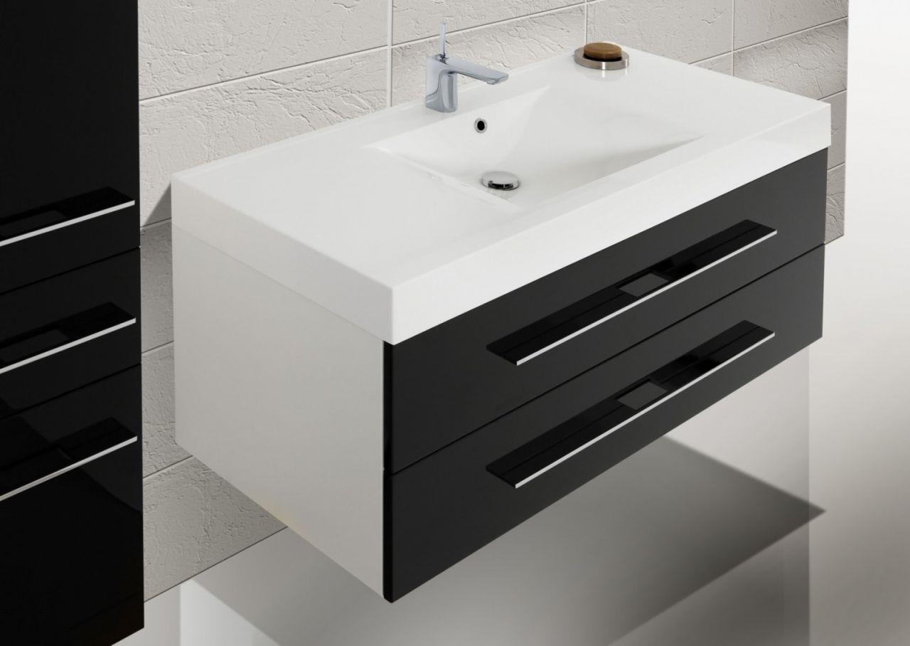 design badm bel set spiegelschrank 120 cm nussbaum. Black Bedroom Furniture Sets. Home Design Ideas