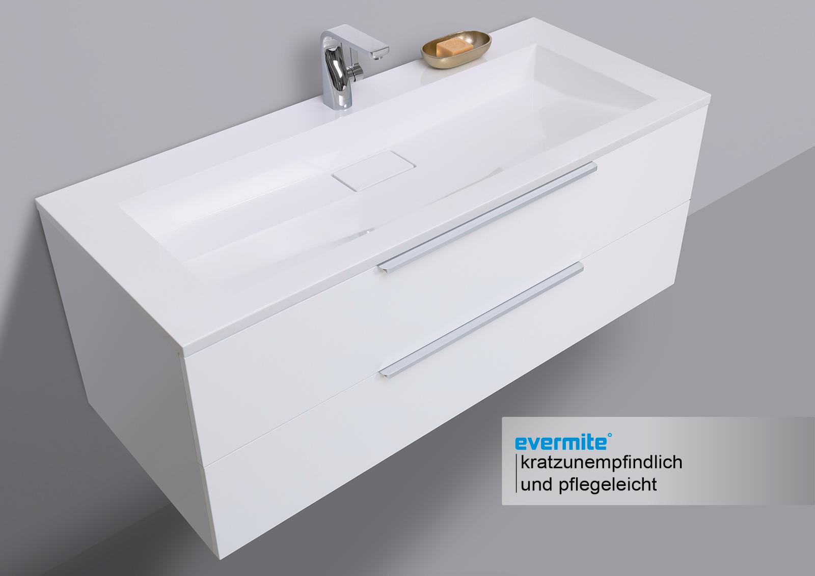 Waschtisch mit unterschrank badm bel set 120 cm evermite for Waschtisch mit unterschrank 120 cm