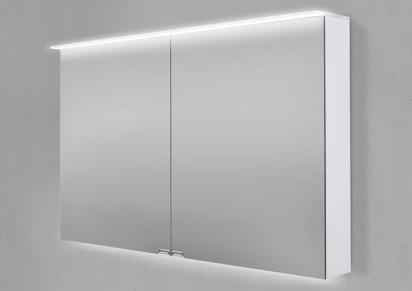 Spiegelschrank 100 cm led acryl lichtplatte doppelseitig for Spiegelschrank 100 cm led