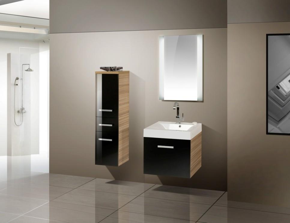 design badm bel set waschbecken 60 cm. Black Bedroom Furniture Sets. Home Design Ideas