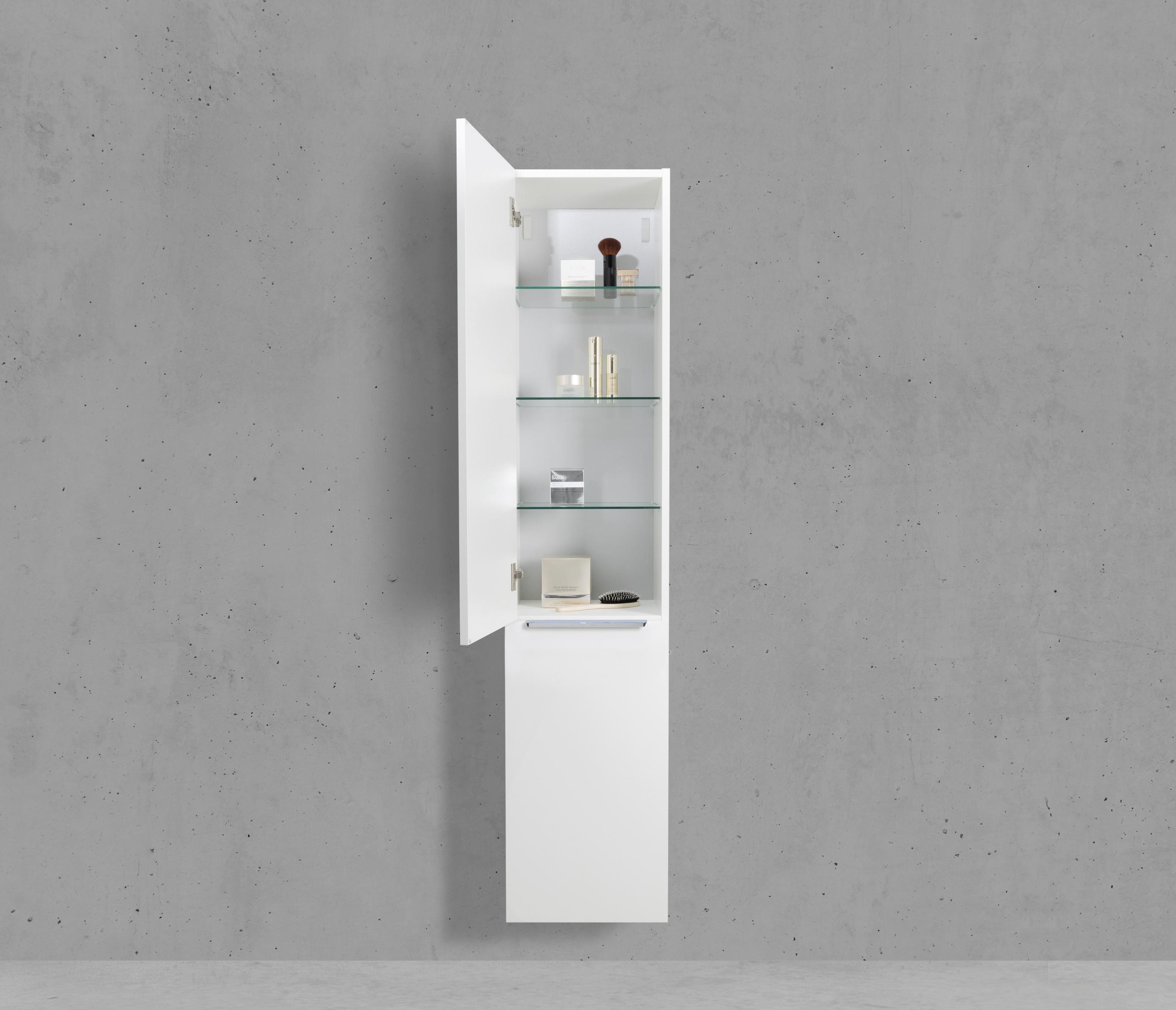 Hochschrank Seitenschrank Mit Wäschekippe Hbt 161640325cm Weiß Hochglanz Lack