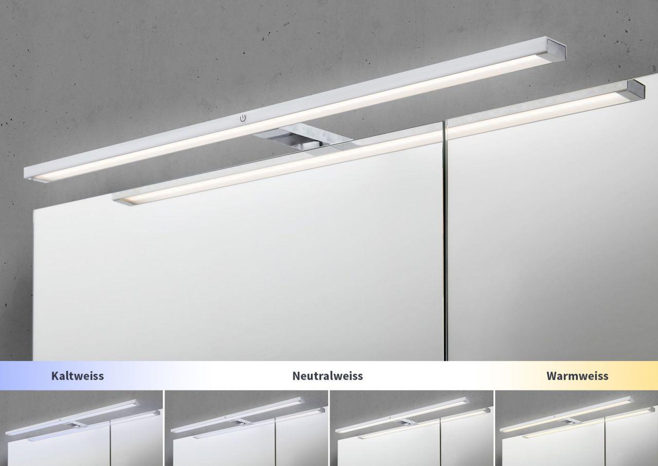 spiegelschrank 100 cm led beleuchtung mit farbwechsel doppelseitig verspiegelt 4251589910235. Black Bedroom Furniture Sets. Home Design Ideas