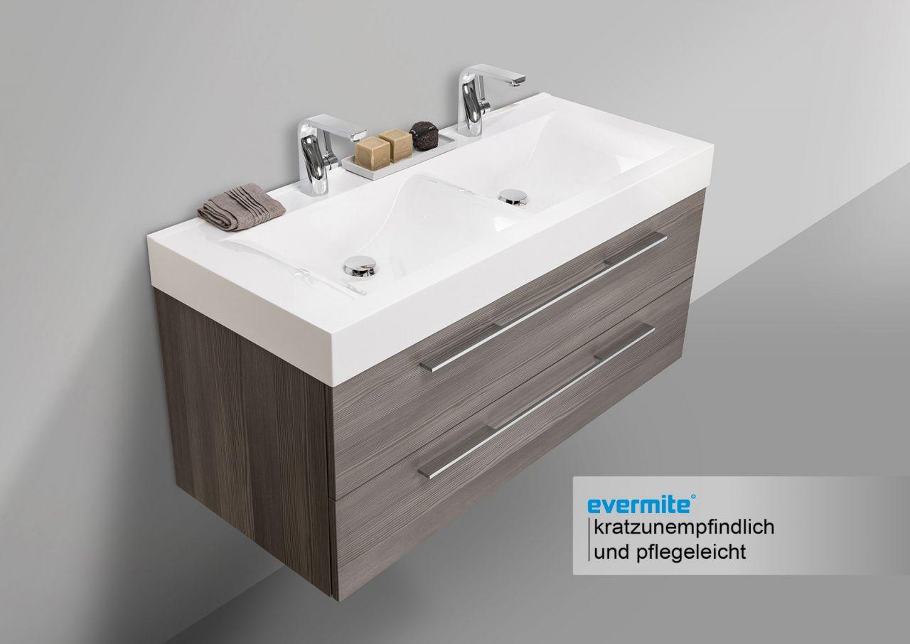 Design doppelwaschtisch badezimmer set mit unterschrank for Designer doppelwaschtisch