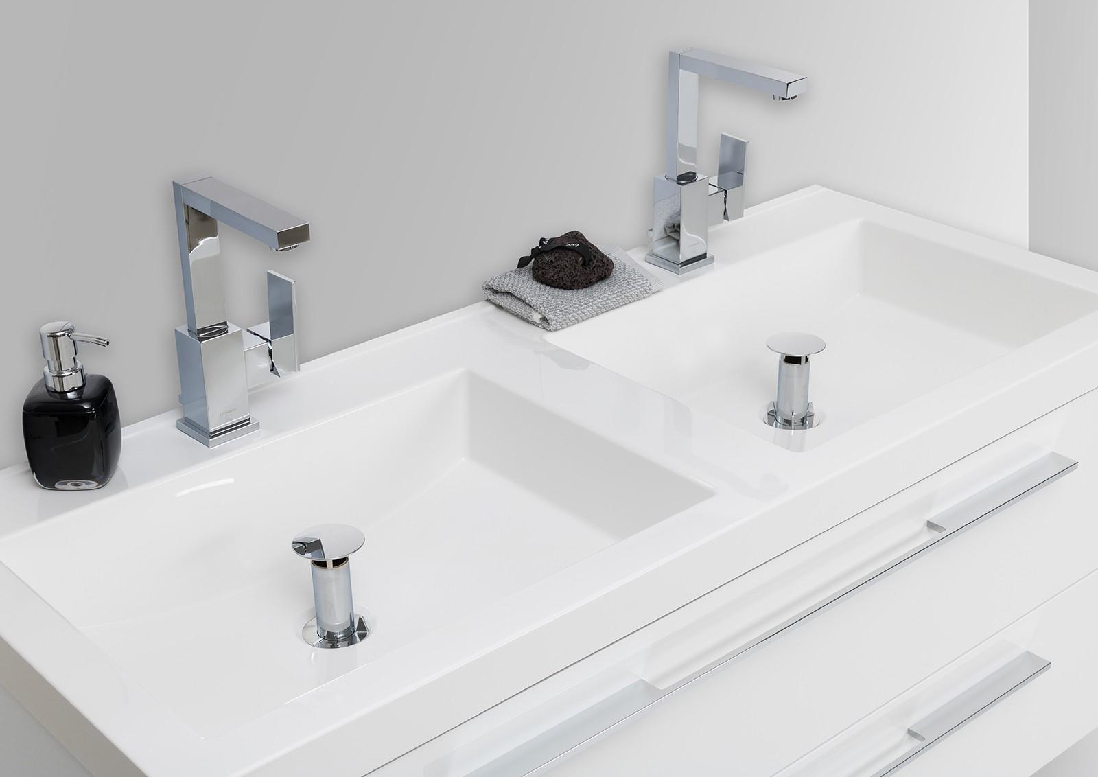 badm bel set doppelwaschtisch 120 cm evermite mit unterschrank intarbad. Black Bedroom Furniture Sets. Home Design Ideas
